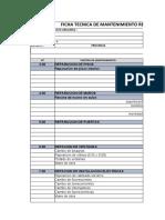 MODELO FICHA TECNICA  DE MANTENIMIENTO 2021 -1