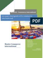 Les Pays Émergents Et Le Commerce International