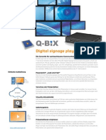 Produktspezifikation - Q-Bix Digital Signage
