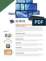 Factsheet  - Q-Bix Digital signage player