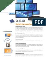 Productblad - Q-Bix Digitale signalisatie