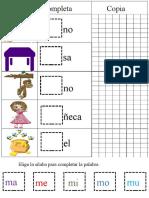 INTERACTIVO COLOREA, COMPLETA Y COPIA