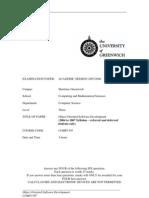 Sample of Object Oriented Software Development Exam (2007/2008) - UK University BSc Final Year