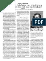 Gabowitsch, Eugen - Der geniale Schöpfer der modernen Chronologie - Joseph Justus Scaliger (Teil 1) [2007, Text]