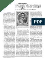 Gabowitsch, Eugen - Der geniale Schöpfer der modernen Chronologie - Joseph Justus Scaliger (Teil 3) [2007, Text]