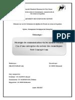 Strategie de Communication via Les Medias Sociaux Cas Dune Entreprise Du Secteur Des Cosmetiques