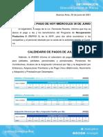 Calendario de pagos de julio de la ANSES