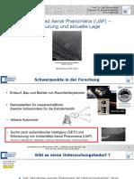 Unidentified Aerial Phenomena UAP - Bedeutung Und Aktuelle Lage 10.06.2021 PDF Version