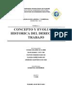 Concepto y evaluación del trabajo