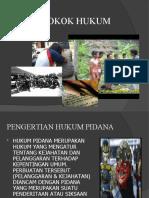 PPT Bahan Ajar Pokok-Pokok Hukum Pidana