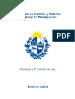 Mensaje y proyecto de ley de Rendición de Cuentas - 30-06-21