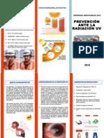 Triptico Prevención ante Radiación