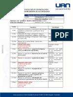 CRONOGRAMA DE ACTIVIDADES CARIOLOGÍA II II-2020
