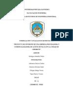 PROYECTO DE ACEITE DE  PALTA AVANCE