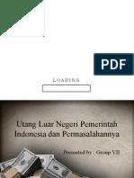 Utang Luar Negeri Pemerintah Indonesia