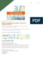 [Passo a passo] Como gerar, converter e transmitir SEFIP - Blog Sibrax Software