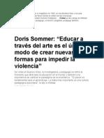 Talleler de Lectura Doris Sommerr