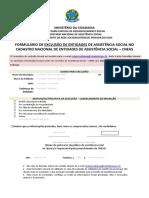 Formulário de Exclusão - Entidade (1)
