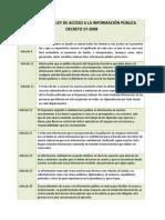 ANÁLISIS DE LA LEY DE ACCESO A LA INFORMACIÓN PÚBLICA DECRETO 57