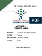 ACTIVIDAD 06 - PRODUCTO NUEVO