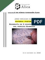 Biografía de 3 Compositores Del Periodo Barroco JORGE HERNANDEZ ANAYA
