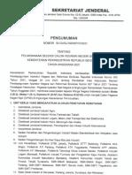 Pengumuman Seleksi CPNS 2021