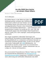 So vollstreckte die DDR ihre letzte Hinrichtung - an einem Stasi-Mann