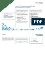 Data Sheet - Document Server, Alchemy Standard Edition Overview