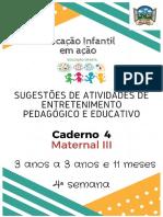 Caderno 4 Maternal III 2