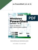 Windows PowerShell (v1 et 2)-Guide de référence pour l'administration système