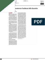 Le api per monitorare l'ambiente delle discariche - Il Corriere Adriatico del 30 giugno 2021