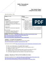 Fiche pédagogique, Francophonie, prof. Gabriela Jingan, Colegiul Economic, Buzau