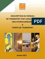 Description Du Reseau de Transport Par Canalisation Des Hydrocarbures Tarif de Transport Annee 2021