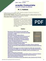 A Educação Comunista [M KALININ]