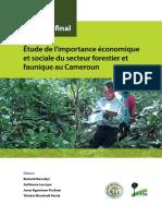 Etude Importance Economique Sociale Secteur Forestier Faunique Cameroun 2013