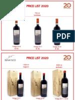 Price List 2020 Cellar