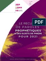 Recueil de paroles prophétiques & sujets de prière - 12 JOURS 12 MOIS 12 HEURES_ICC