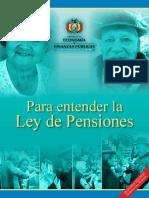 Folleto explicativo sobre la Ley de Pensiones