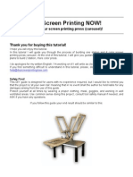 Screen Printing DIY Station
