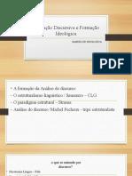 Aula Formação Discursiva e Formação Ideológica