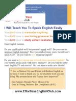 The Effortless English Club