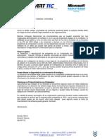 Carta Legalizacion Software