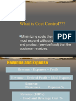 A Cost Control Overview