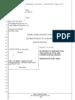 David Cole v. City of Ceres complaint