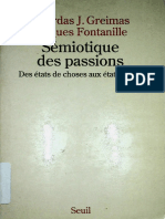 Sémiotique Des Passions. Des États de Choses Aux États Dâme by Jacques Fontanille, Algirdas Julien Greimas (Z-lib.org)