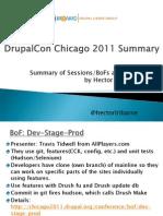 DrupalCon Chicago 2011 Summary