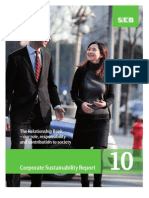 SEB has published its Corporate Sustainability Report 2010