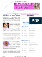Oriya (Odia) Calendar 2011 - Odia Festivals - Odia Panji