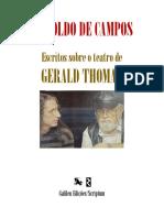 galileu edições gerald thomas escritos haroldo de campos