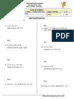 Ficha Habilidad Matemática - Criptoaritmética - 5toA